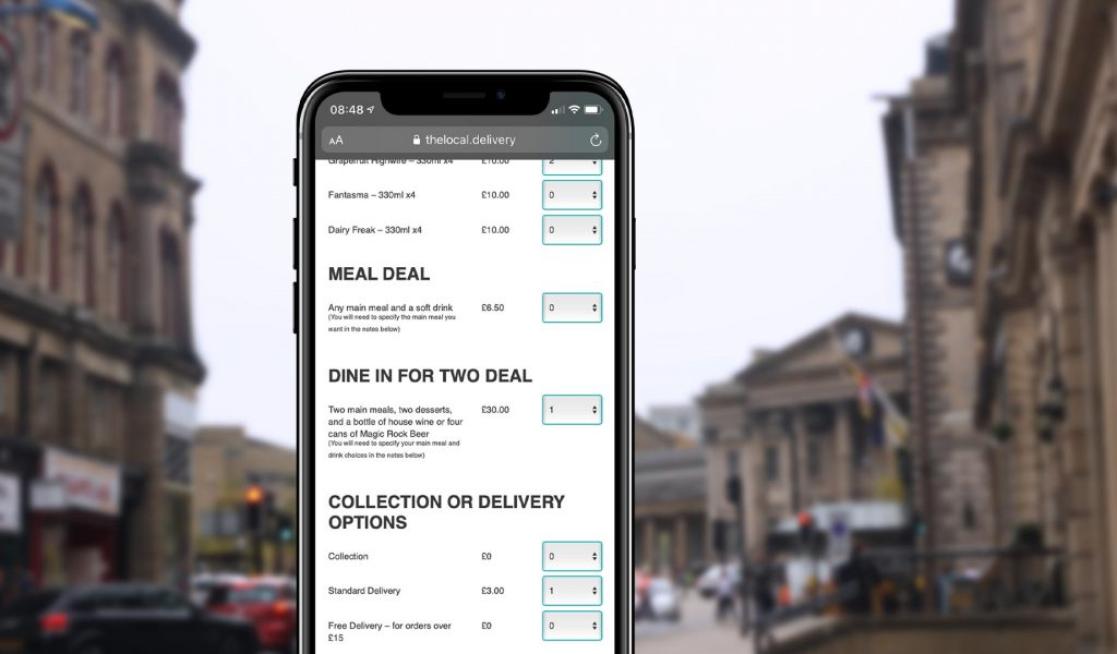 TheLocal.Delivery mobile order preview